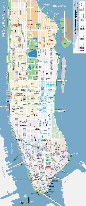mapa nyc auzoko kaleetan